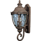 Maxim 40285WGET Morrow Bay VX 3-Light Outdoor Wall Lantern in Earth Tone with Water Glass glass.