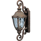 Maxim 40287WGET Morrow Bay VX 1-Light Outdoor Wall Lantern in Earth Tone with Water Glass glass.