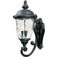Maxim 40424WGOB Carriage House VX 3-Light Outdoor Wall Lantern in Oriental Bronze with Water Glass glass.