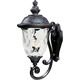 Maxim 40425WGOB Carriage House VX 3-Light Outdoor Wall Lantern in Oriental Bronze with Water Glass glass.