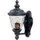 Maxim 40495WGOB Carriage House VX 1-Light Outdoor Wall Lantern in Oriental Bronze with Water Glass glass.