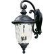 Maxim 40498WGOB Carriage House VX 3-Light Outdoor Wall Lantern in Oriental Bronze with Water Glass glass.
