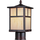 Maxim 4055HOBU Coldwater 1-LT Outdoor Pole/Post Lantern in Burnished with Honey glass.