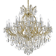 Crystorama 4418-GD-CL-MWP Maria Theresa Chandelier Draped in Hand Cut Crystal