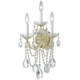 Crystorama 4423-GD-CL-S Maria Theresa Wall Sconce Draped in Swarovski Elements Crystal
