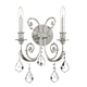 Crystorama 5112-OS-CL-MWP Ornate Wall Sconce Adorned with Clear Hand Cut Crystal