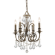 Crystorama 5114-EB-CL-MWP Clear hand cut Crystal Wrought Iron Chandelier