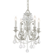 Crystorama 5114-OS-CL-MWP Clear hand cut Crystal Wrought Iron Chandelier
