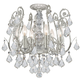 Crystorama 5115-OS-CL-S Clear Strass Crystal Wrought Iron Semi-Flush