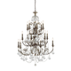 Crystorama 5117-EB-CL-S Clear Swarovski Elements Crystal Wrought Iron Chandelier