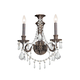 Crystorama 5162-EB-CL-MWP Wrought Iron Hand Cut Lead Crystal Wall Sconce