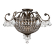 Crystorama 5165-EB-CL-MWP Wrought Iron Hand Cut Lead Crystal Chandelier