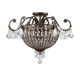 Crystorama 5167-EB-CL-MWP Wrought Iron Hand Cut Lead Crystal Chandelier