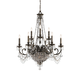 Crystorama 5168-EB-CL-MWP Wrought Iron Hand Cut Lead Crystal Chandelier