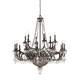 Crystorama 5169-EB-CL-MWP Wrought Iron Hand Cut Lead Crystal Chandelier