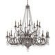 Crystorama 5170-EB-CL-MWP Wrought Iron Hand Cut Lead Crystal Chandelier