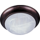 Maxim 5851MROI 2-Light Flush Mount in Oil Rubbed Bronze with Marble glass.