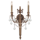 Crystorama 752-MB-CL-S Ornate cast wall sconce with Clear Swarovski Elements Crystal