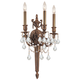 Crystorama 753-MB-CL-SAQ Ornate cast wall sconce with Clear Swarovski Spectra Crystal