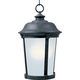 Maxim 85099FSBZ Dover EE 1-Light Outdoor Hanging Lantern in Bronze with Frosted Seedy glass.