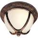 Maxim 85469SFSE Knob Hill EE 2-Light Outdoor Ceiling Mount in Sienna with Snow Flake glass.
