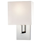 George Kovacs P470-077 Wall Lamp in Chrome finish with White Linen