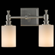 Murray Feiss VS16102-BS Sullivan Vanity Strip in Brushed Steel finish with White OpalGlass