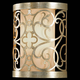 Murray Feiss WB1485SLP Arabesque Wall Bracket Half - ADA in Silver Leaf Patina finish with Ivory Linen Fabric