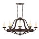 Savoy House 1-2011-8-05 Elba 8 Light Oval Chandelier in Oiled Copper Finish
