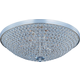 Maxim 39873BCPS Glimmer 9-Light Flush Mount in Plated Silver with Beveled Crystal glass.