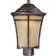 Maxim 40160GFCO Balboa VX 1-Light Outdoor Pole/Post Lantern in Copper Oxide with Golden Frost glass.