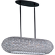 Maxim 39880BCBZ Glimmer 10-Light Pendant in Bronze with Beveled Crystal glass.