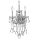 Crystorama 4423-CH-CL-S Maria Theresa Wall Sconce Draped in Swarovski Elements Crystal