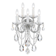 Crystorama 4425-CH-CL-SAQ Maria Theresa Chandelier Draped in Swarovski Spectra Crystal