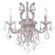 Crystorama 4433-CH-CL-S Maria Theresa Wall Sconce Draped in Clear Swarovski Elements Crystal