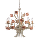 Crystorama 4808-SR Southport Handpainted Wrought Iron Chandelier
