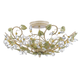 Crystorama 4840-CT Semi flush mount with clear crystal accents and wrought iron handpainted in Champagne Green Tea finish.