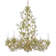 Crystorama 4846-CT Chandelier with clear crystal accents and wrought iron handpainted in Champagne Green Tea finish.