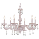 Crystorama 5036-AW-CL-MWP Clear Hand Cut Crystal Chandelier