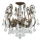 Crystorama 5115-EB-CL-MWP Clear Hand Cut Crystal Wrought Iron Chandelier