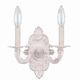 Crystorama 5122-AW Paris Flea Market Natural Wrought Iron Wall Sconce in Antique White