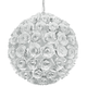 Crystorama 537-WW White Wrought Iron Chandelier
