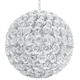 Crystorama 539-WW White Wrought Iron Chandelier