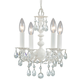 Crystorama 5514-WW-CL-MWP Paris Flea Market Mini Chandelier - Wet White finish - Adorned with Crystal accents