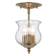 Crystorama 5715-PB Traditional bell jar finished in Polished Brass.