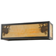 Meyda Tiffany 100804 Winter Pine Wall Sconce in Craftsman Brown finish