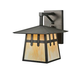 Meyda Tiffany 112389 Stillwater Double Cross Mission Straight Arm Wall Sconce in Craftsman Brown finish