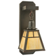 Meyda Tiffany 117287 Mission Hanging Wall Sconce in Craftsman Brown finish