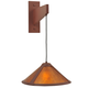 Meyda Tiffany 118813 Cantilever Mission Wall Sconce in Rust finish with Amber Mica