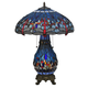 Meyda Tiffany 118840 Tiffany Hanginghead Dragonfly Lighted Base Table Lamp in Copperfoil finish
